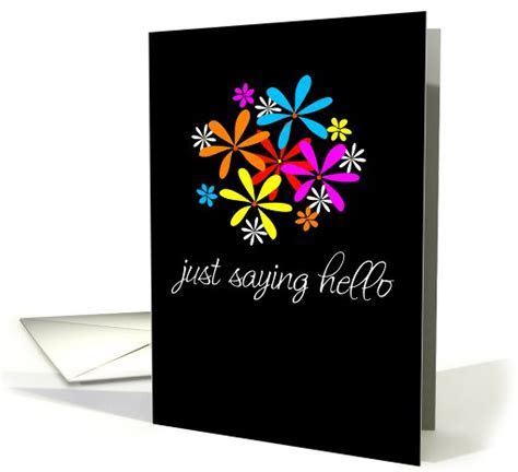 just saying hello card (48293)