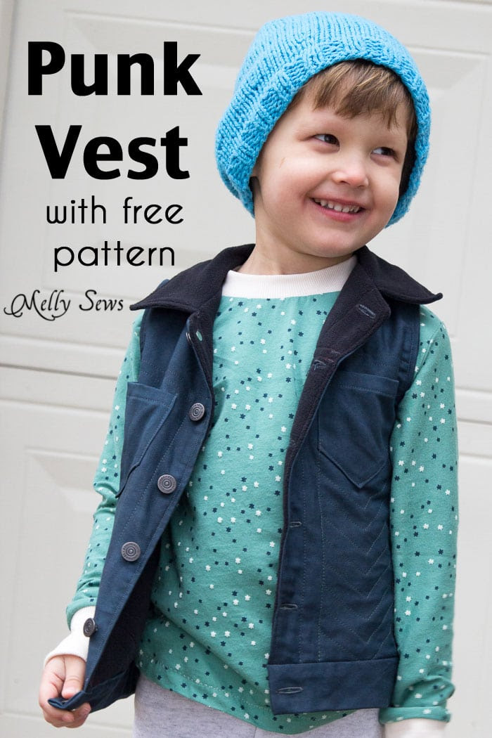 Sew a boys vest with the FREE Punk Vest pattern - Melly Sews