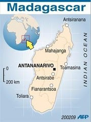 A map of Madagascar where there are reports of a military mutiny. The country has undergone political unrest between the government and opposition forces over the last several months. by Pan-African News Wire File Photos