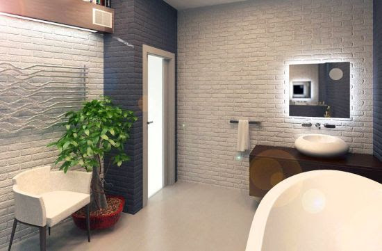 33 Bathroom Designs with Brick Wall Tiles   Ultimate Home ...