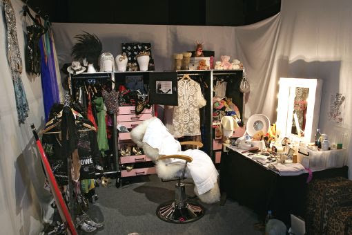 Photo of Kylie's dressing room at the exhibition