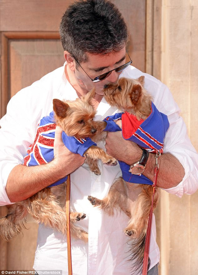 Doing his bit: Simon The  has teamed up with the ITV show and Humane Society International to raise awareness about the trade - as the beloved owner of two dogs himself (above)