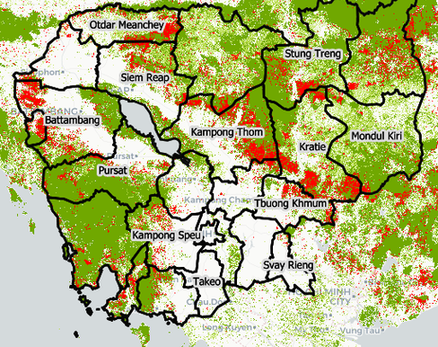 Forest Cover Loss Cambodia 2000 2014 Interactive Web Map
