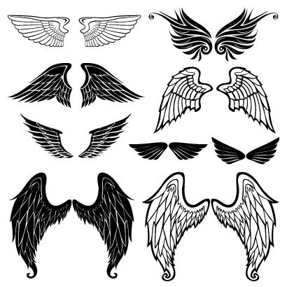 鳥の翼天使の羽根ロゴのイラストaieps ベクタークラブ