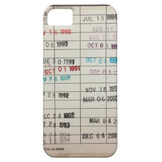 Vintage Library Due Date Cards iPhone 5 Cases