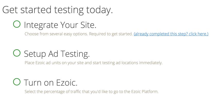 Ezoic guide WordPress