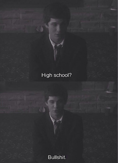 Quote Sad Quotes Movie Hipster Vintage Indie Bullshit High School