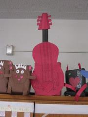 Guitar Valentine Mailbox