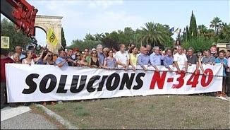 Alcaldes encadenats a l'N-340