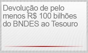 1) DEVOLUÇÃO DE PELO MENOS R$ 100 BILHÕES DO BNDES (Foto: G1)
