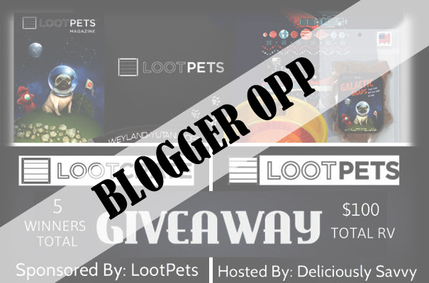 Loot Crates Pet Giveaway Blogger Opp