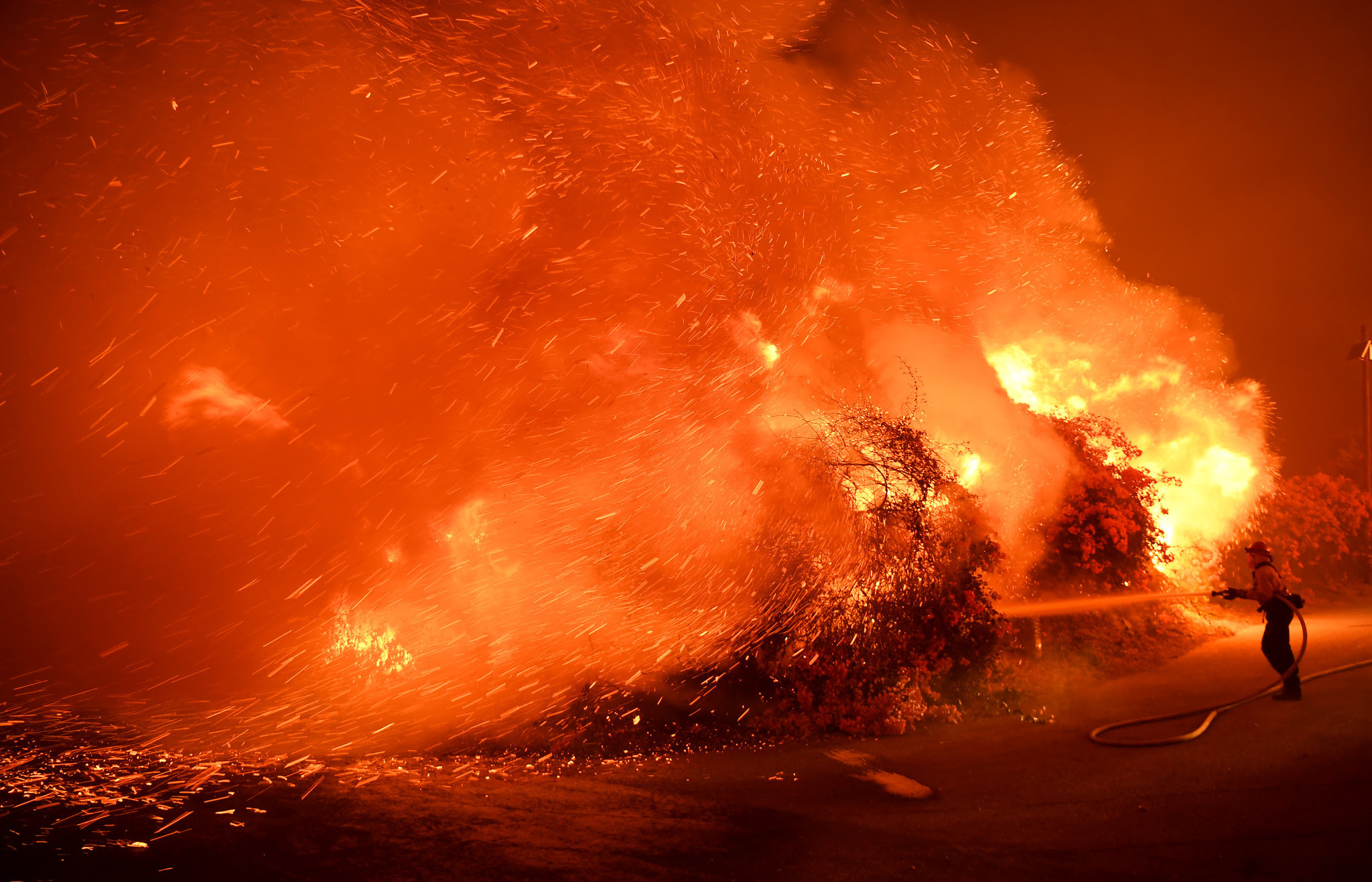 Image result for At 230,000 acres, Thomas fire is now the fifth-largest wildfire in modern California history