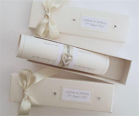 scroll box   Carol Miller Designs  wedding stationery showcase