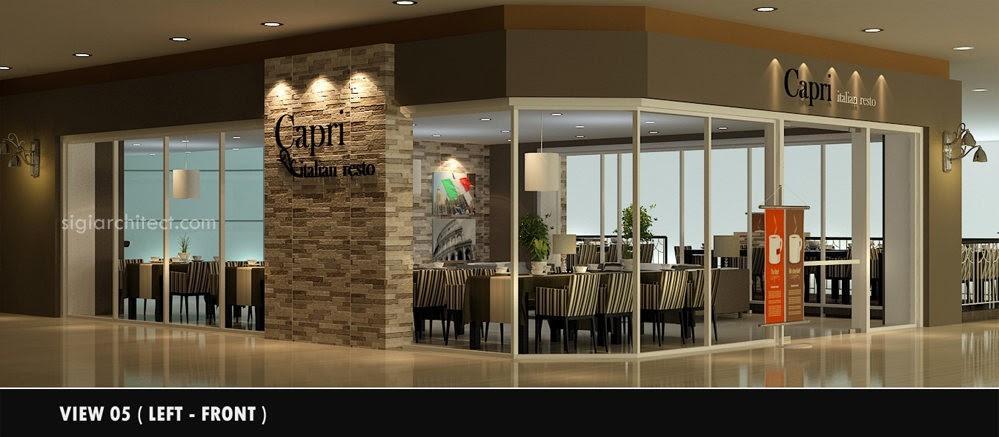 Desain  Cafe  Resto Minimalis  Modern