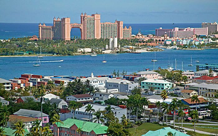 The Atlantis Resort in Nassau City on New Providence Island.  In The Bahamas.