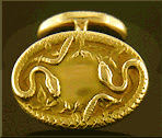 Krementz writhing serpent cufflinks. (J9284)