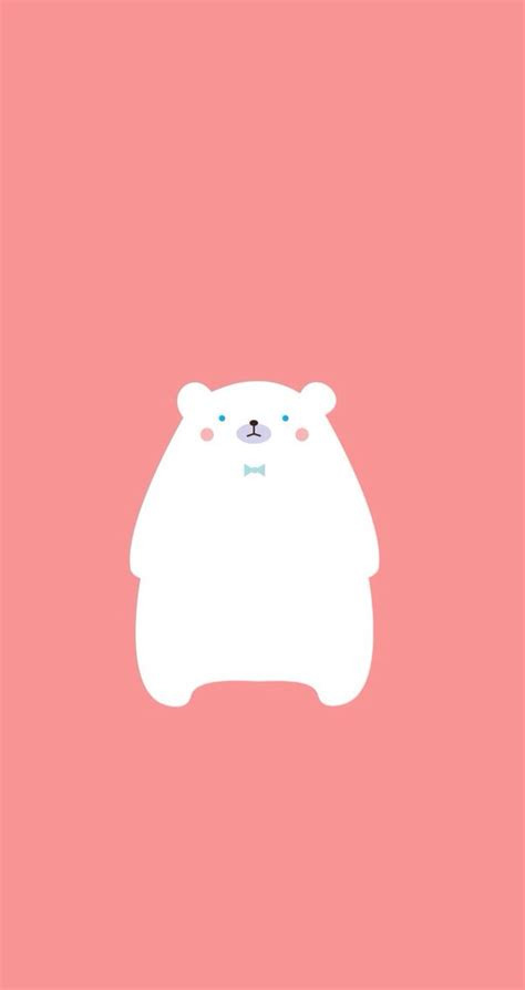 ice bear find  minimalistic iphone android