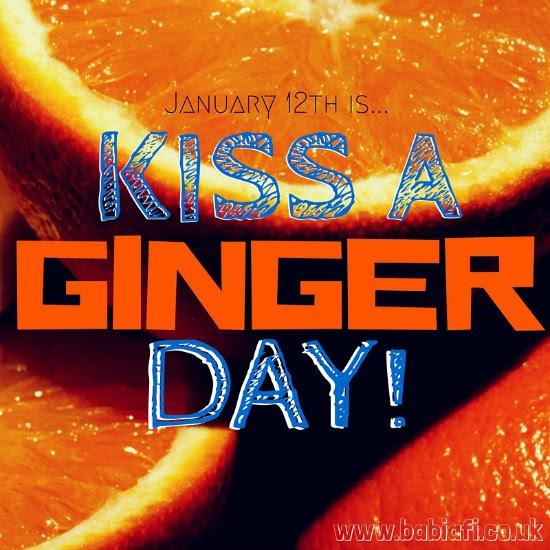January 12th is Kiss a Ginger Day!