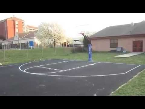 Painting An Outdoor Concrete Basketball Court