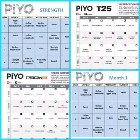 pin  chad pink zillafitness  beachbody worksheets