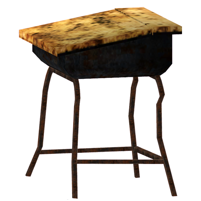 School desk The Fallout wiki Fallout New Vegas and more