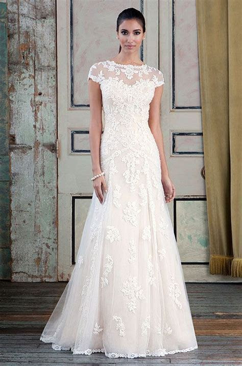 Beaded Venice lace and tulle Slim a line wedding dress