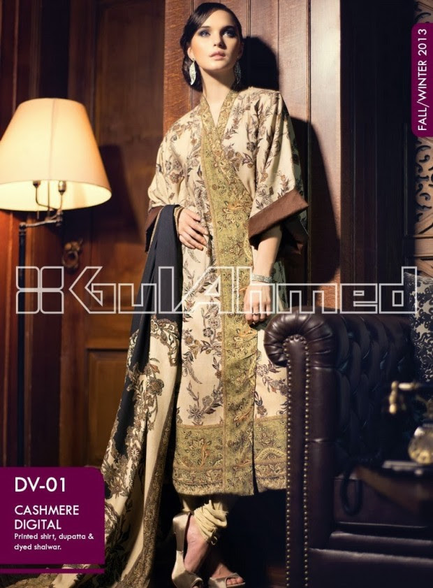 Beautiful-Cute-Girls-New-Fashion-Dress-Design-by-Gul-Ahmed-Fall-Winter-Collection-2013-14-2