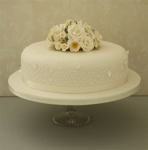 single tier wedding cake designs idea   bella
