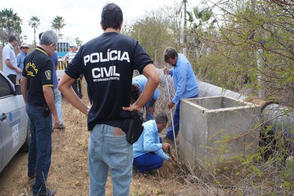 Fiscalização da Caern contou com auxílio da Polícia Civil