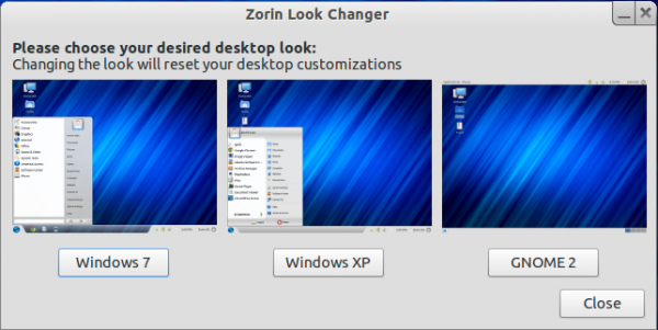 Zorin OS 6 Core Look Changer