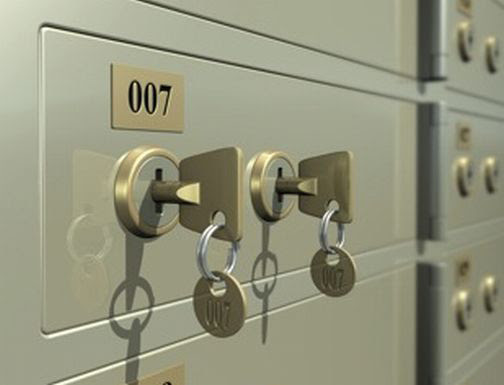 Safe Deposit Box - 2 Keys