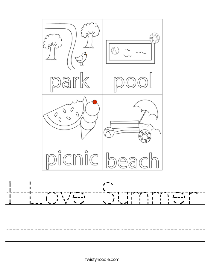 i love summer_worksheet