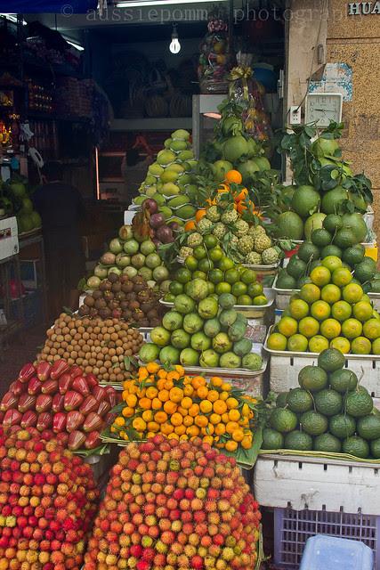 Ho Chi Minh Fruit Stall