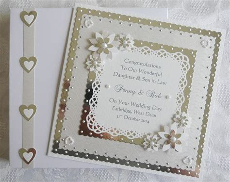 Wedding Day Card Son/Daughter/Friends/etc with box