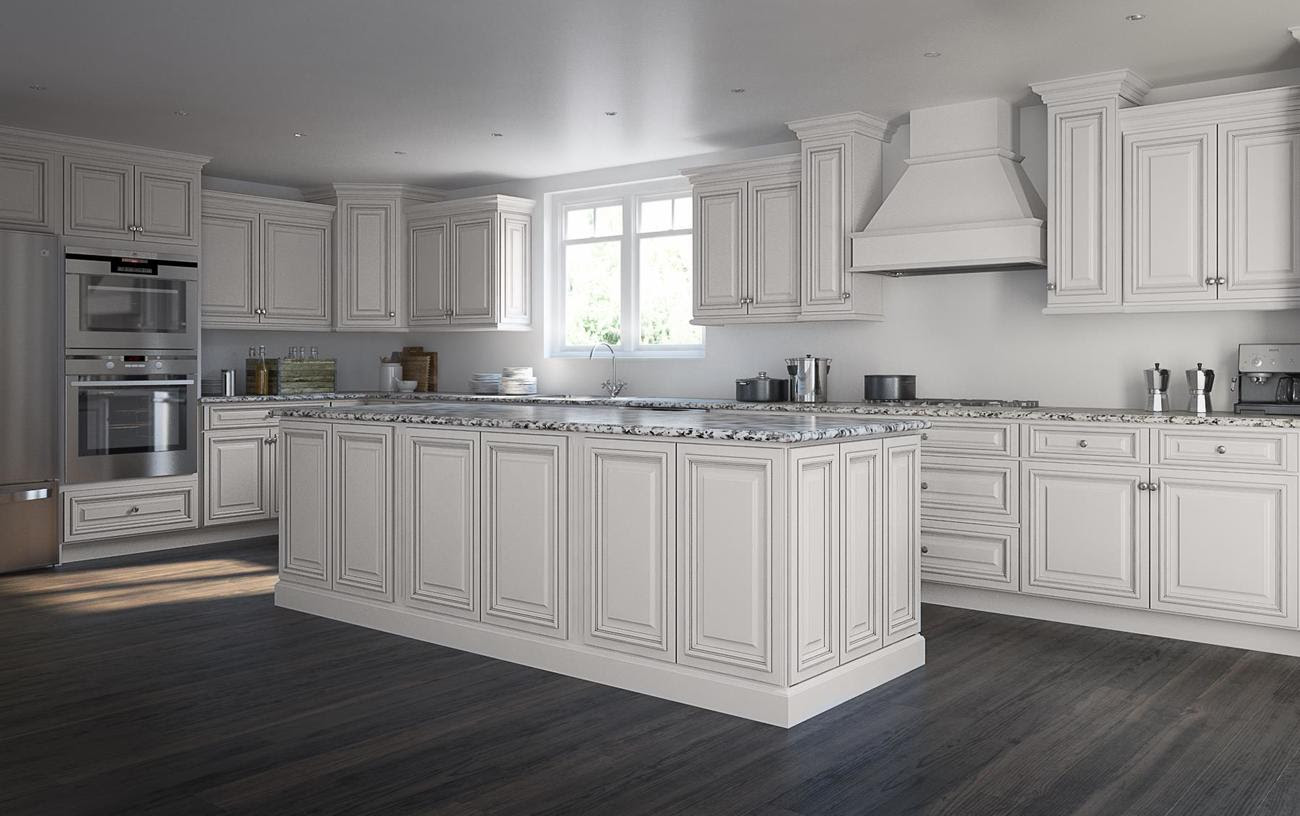 Roosevelt White Pre-Assembled kitchen Cabinets - The RTA Store