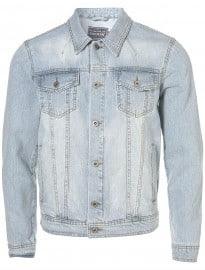 Topman Bleach Denim Western Jacket