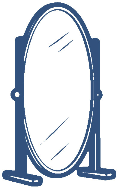 Standing Mirror Clipart