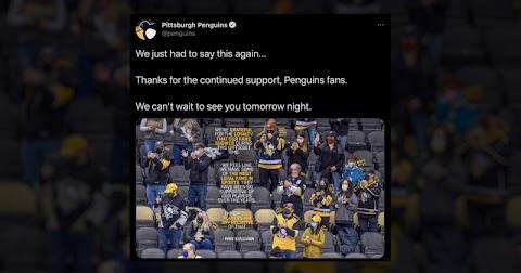 Pittsburgh Penguins Photoshopped Masks onto Fans, Sparking Backlash