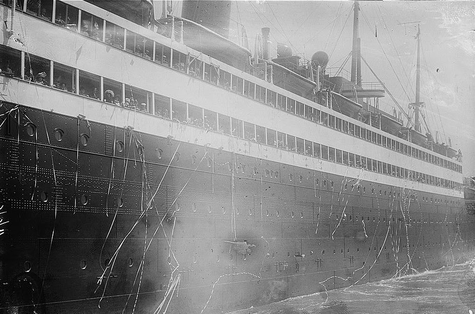 SS George Washington departs New York for a previous voyage.