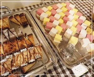 津田沼「chez Como」のお祭り、デザートコーナーはこんな感じ。