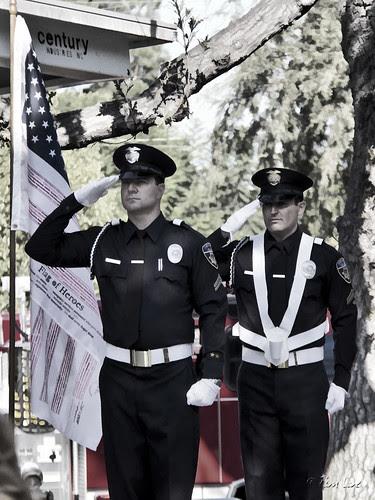 Downey 9/11 Program flag salute