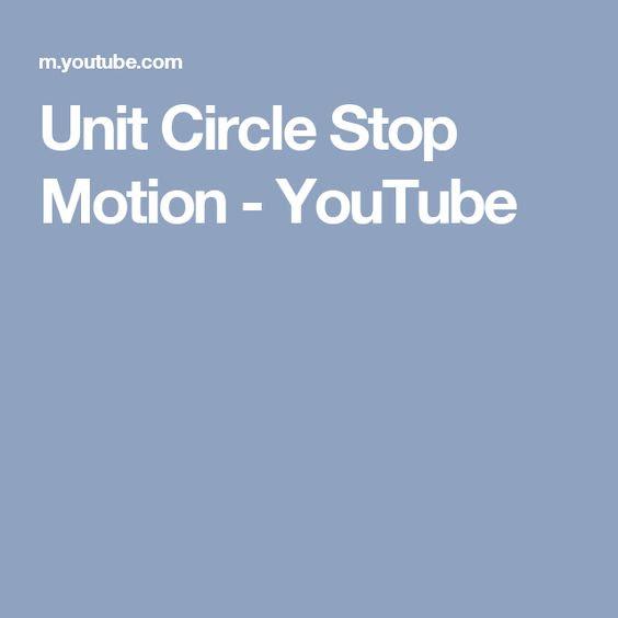 Unit Circle Stop Motion - YouTube | Trig | Pinterest