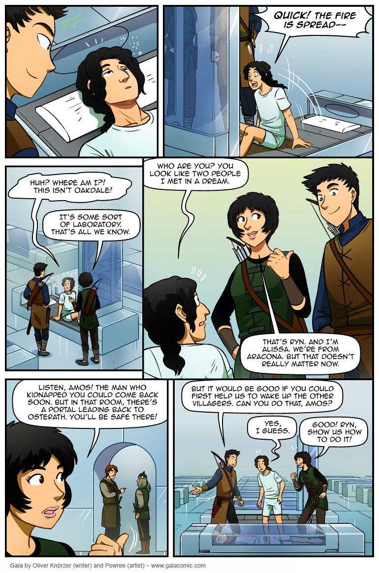Gaia Webcomic way you back home - writer class