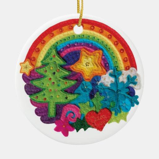 Christmas Rainbow Decoration - A Funky Felt Design Christmas ...