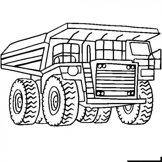 Dibujo De Camion Minero Para Pintar Y Colorear Super Tonka