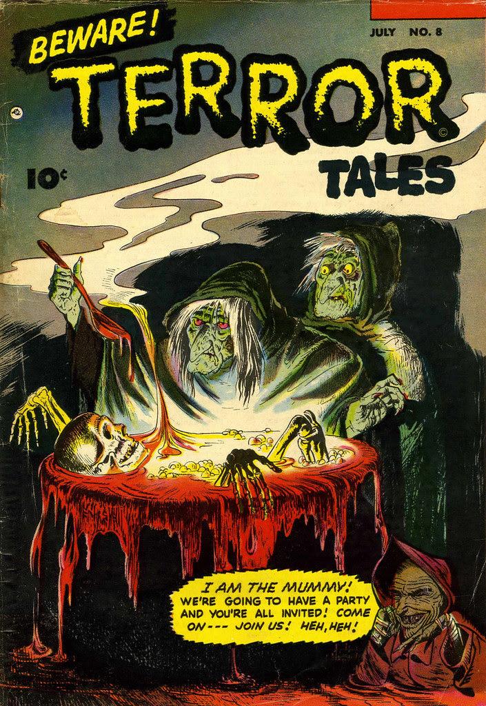 Beware Terror Tales #8 Bernard Bailey Cover (Fawcett, 1953)