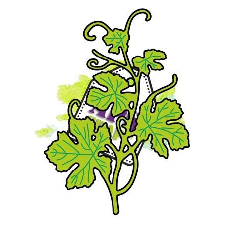 Wykrojnik - winorośl