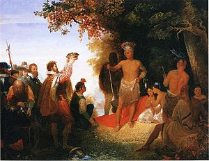 "English: ""The Coronation of Powhatan,&quo..."