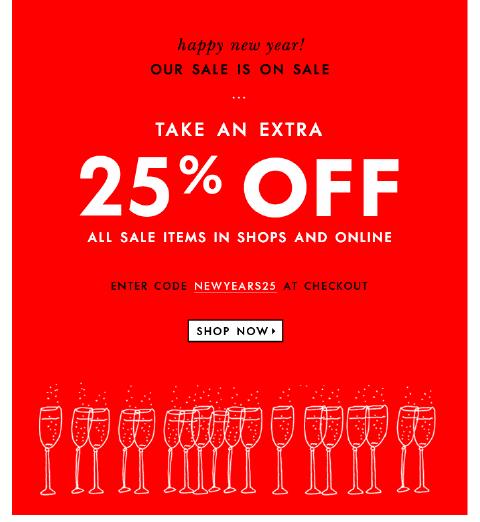 Kate Spade Coupon Code -  Extra 25% Off Sale at Kate Spade