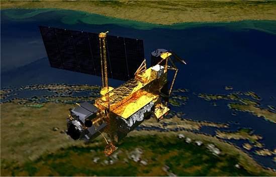 A chance de que um dos 26 pedaços do satélite que chegarão à superfície atinja um ser humano é de 1 em 3.200.(Imagem: NASA)